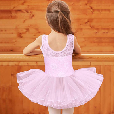 BAOHULU Leotards for Girls Ballet Dance Tutu Skirted Princess Dress 3-8 Years