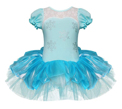 iEFiEL Girls Elegant Snowflake Princess School Ballet Dance Wear Party Dress Halloween Costumes